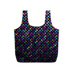 Polka Dot Sparkley Jewels 2 Full Print Recycle Bags (S)