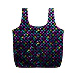 Polka Dot Sparkley Jewels 2 Full Print Recycle Bags (M)