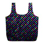 Polka Dot Sparkley Jewels 2 Full Print Recycle Bags (L)