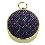Polka Dot Sparkley Jewels 2 Gold Compasses