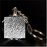 Polka Dot Sparkley Jewels 2 3D Engraving Circle Key Chain