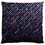 Polka Dot Sparkley Jewels 2 Large Flano Cushion Cases (One Side)