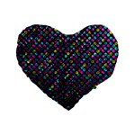 Polka Dot Sparkley Jewels 2 Standard 16  Premium Flano Heart Shape Cushions
