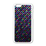 Polka Dot Sparkley Jewels 2 Apple iPhone 6/6S White Enamel Case