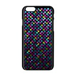 Polka Dot Sparkley Jewels 2 Apple iPhone 6/6S Black Enamel Case
