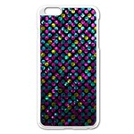Polka Dot Sparkley Jewels 2 Apple iPhone 6 Plus/6S Plus Enamel White Case