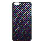 Polka Dot Sparkley Jewels 2 Apple iPhone 6 Plus/6S Plus Black Enamel Case