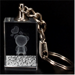 Polka Dot Sparkley Jewels 2 Teddy Bear 3D Engraving Key Chain