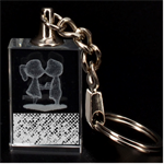 Polka Dot Sparkley Jewels 2 Couple 3D Engraving Key Chain