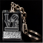 Polka Dot Sparkley Jewels 2 Love 3D Engraving Key Chain