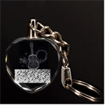 Polka Dot Sparkley Jewels 2 Guitar 3D Engraving Heart Key Chain