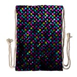 Polka Dot Sparkley Jewels 2 Drawstring Bag (Large)