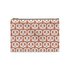 Salmon Pretzel Illustrations Pattern Cosmetic Bag (medium)  by creativemom