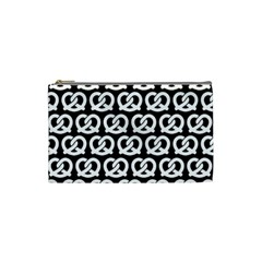 Black And White Pretzel Illustrations Pattern Cosmetic Bag (small)  by creativemom