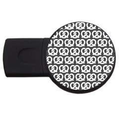 Gray Pretzel Illustrations Pattern Usb Flash Drive Round (2 Gb)  by creativemom