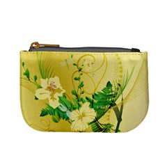 Wonderful Soft Yellow Flowers With Leaves Mini Coin Purses by FantasyWorld7