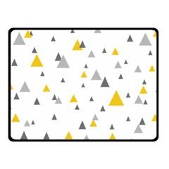 Pastel Random Triangles Modern Pattern Double Sided Fleece Blanket (small)  by Dushan