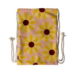 Sunflowers Everywhere Drawstring Bag (small) by CraftyLittleNodes