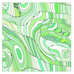 Retro Abstract Green Large Satin Scarf (square) by ImpressiveMoments