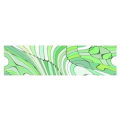 Retro Abstract Green Satin Scarf (oblong) by ImpressiveMoments