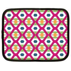 Honeycomb In Rhombus Pattern Netbook Case (xl) by LalyLauraFLM