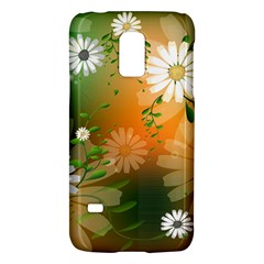 Beautiful Flowers With Leaves On Soft Background Galaxy S5 Mini by FantasyWorld7