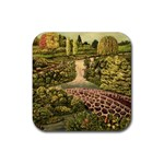 Country Waterfall by Ave Hurley - Rubber Square Coaster (4 pack)