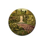 Country Waterfall by Ave Hurley - Rubber Coaster (Round)
