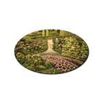 Country Waterfall by Ave Hurley - Sticker (Oval)