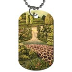 Country Waterfall by Ave Hurley - Dog Tag (Two Sides)