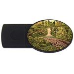 Country Waterfall by Ave Hurley - USB Flash Drive Oval (2 GB)