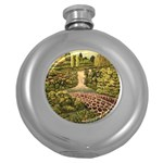 Country Waterfall by Ave Hurley - Hip Flask (5 oz)