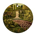 Country Waterfall by Ave Hurley - Round Ornament (Two Sides)