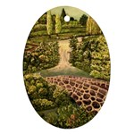 Country Waterfall by Ave Hurley - Oval Ornament (Two Sides)