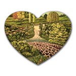 Country Waterfall by Ave Hurley - Heart Mousepad