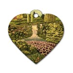 Country Waterfall by Ave Hurley - Dog Tag Heart (One Side)