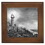 Frank Clark Lighthouse -AveHurley ArtRevu.com- Framed Tile