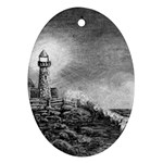 Frank Clark Lighthouse -AveHurley ArtRevu.com- Ornament (Oval)