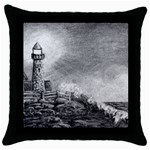 Frank Clark Lighthouse -AveHurley ArtRevu.com- Throw Pillow Case (Black)