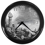 Frank Clark Lighthouse -AveHurley ArtRevu.com- Wall Clock (Black)