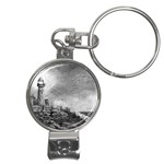 Frank Clark Lighthouse -AveHurley ArtRevu.com- Nail Clippers Key Chain
