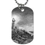 Frank Clark Lighthouse -AveHurley ArtRevu.com- Dog Tag (One Side)