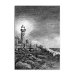 Frank Clark Lighthouse -AveHurley ArtRevu.com- Sticker A4 (10 pack)