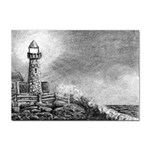 Frank Clark Lighthouse -AveHurley ArtRevu.com- Sticker A4 (100 pack)