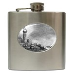 Frank Clark Lighthouse -AveHurley ArtRevu.com- Hip Flask (6 oz)
