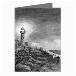 Frank Clark Lighthouse -AveHurley ArtRevu.com- Greeting Cards (Pkg of 8)