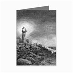 Frank Clark Lighthouse -AveHurley ArtRevu.com- Mini Greeting Card
