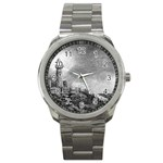 Frank Clark Lighthouse -AveHurley ArtRevu.com- Sport Metal Watch