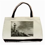 Frank Clark Lighthouse -AveHurley ArtRevu.com- Basic Tote Bag