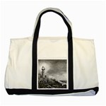 Frank Clark Lighthouse -AveHurley ArtRevu.com- Two Tone Tote Bag